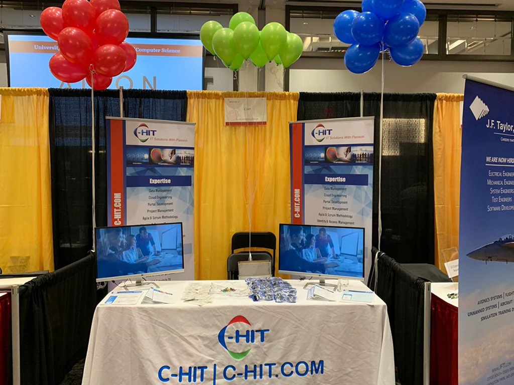 C-HIT's display at the job fair organized by the University of Maryland, College Park, 2020.