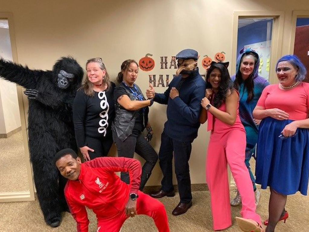 Employees show off their costumes and festive spirit during the 2019 Halloween celebrations at C-HIT's office locations.